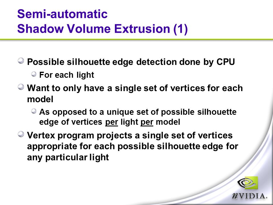 Semi-automatic Shadow Volume Extrusion (1)