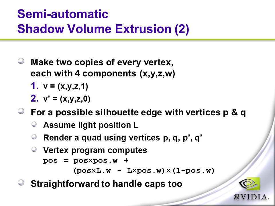 Semi-automatic Shadow Volume Extrusion (2)