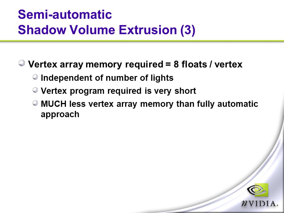 Semi-automatic Shadow Volume Extrusion (3)