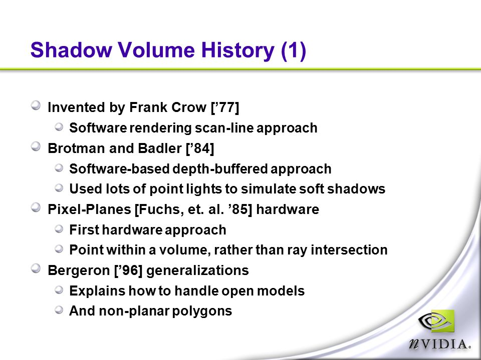 Shadow Volume History (1)