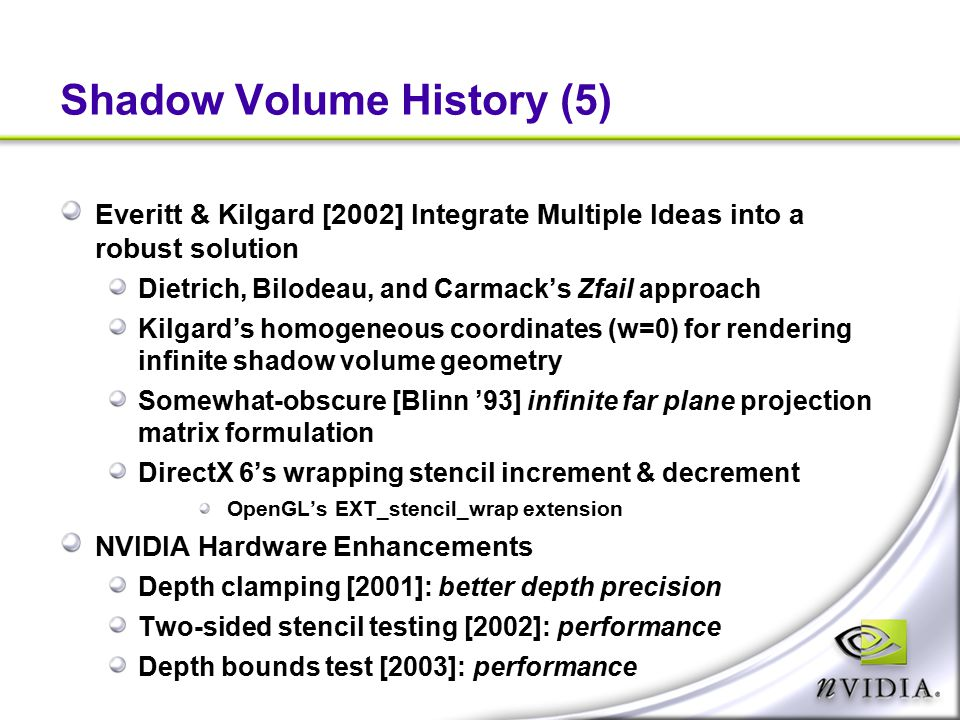 Shadow Volume History (5)