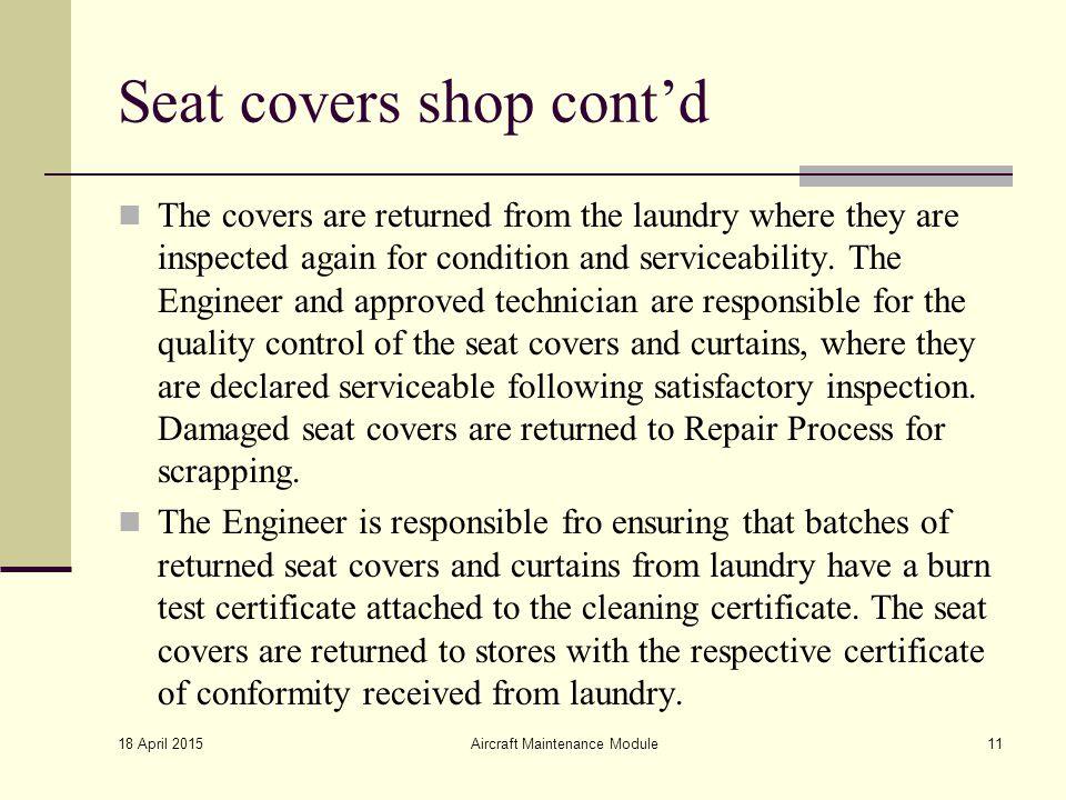 Seat covers shop cont'd
