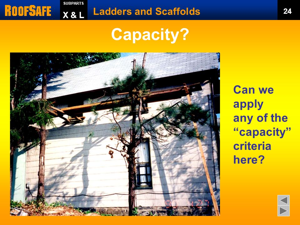 Capacity Can we apply any of the capacity criteria here