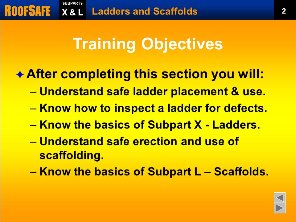 Training Objectives After completing this section you will: