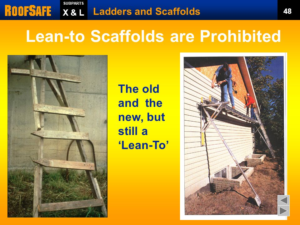 Lean-to Scaffolds are Prohibited