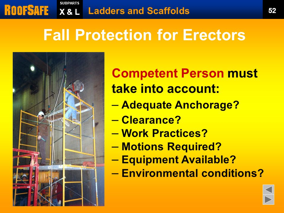 Fall Protection for Erectors