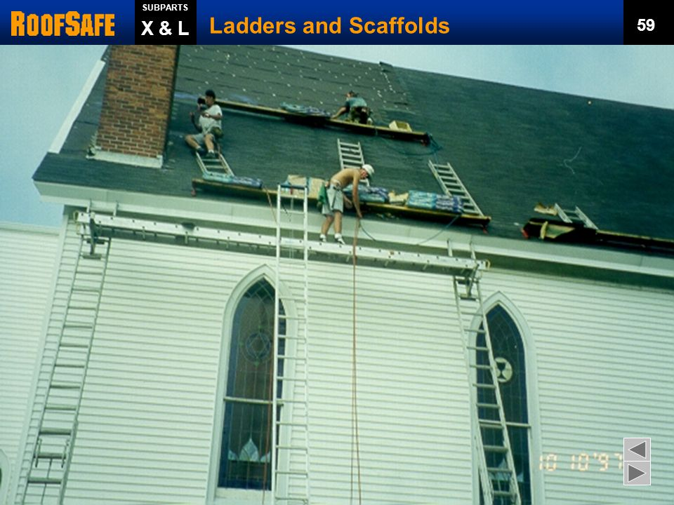 Ladders and Scaffolds X & L 59 Trainer s Notes: