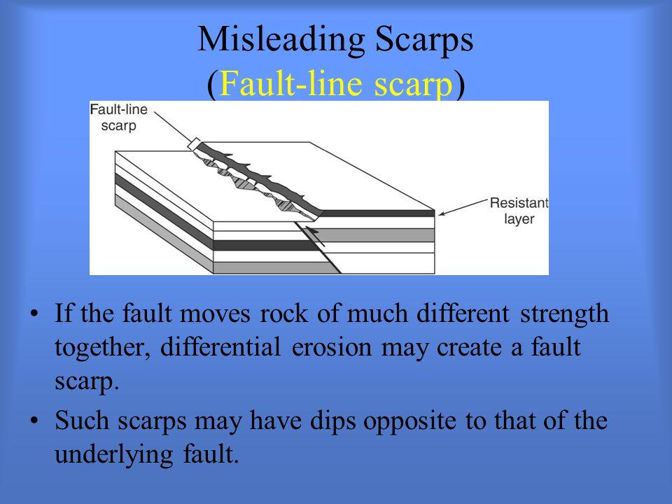 Misleading Scarps (Fault-line scarp)