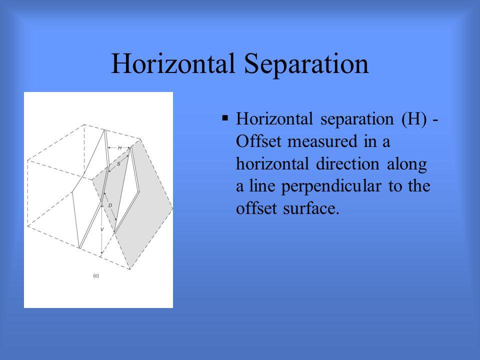 Horizontal Separation