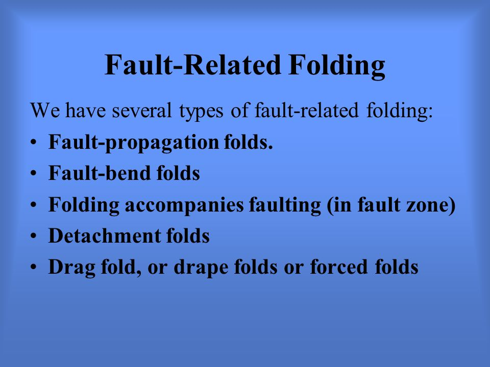 Fault-Related Folding