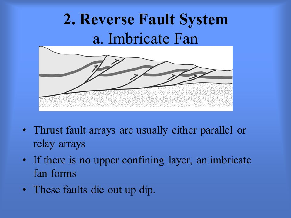 2. Reverse Fault System a. Imbricate Fan