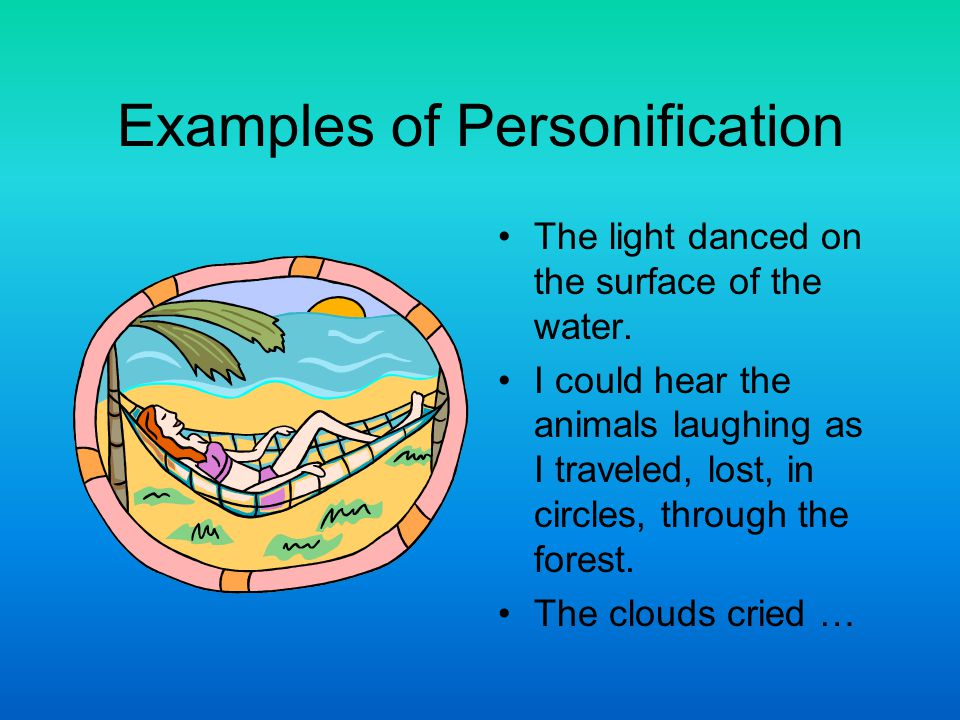 Examples of Personification