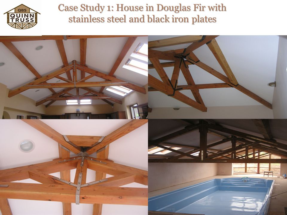 Case Study 1: House in Douglas Fir with stainless steel and black iron plates