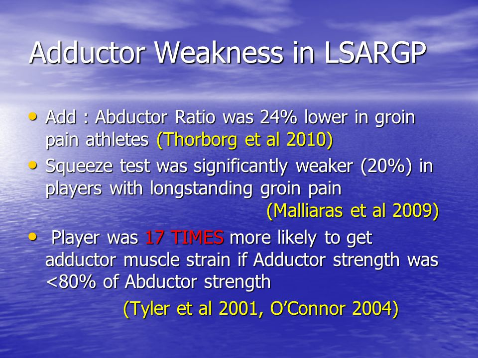 Adductor Weakness in LSARGP