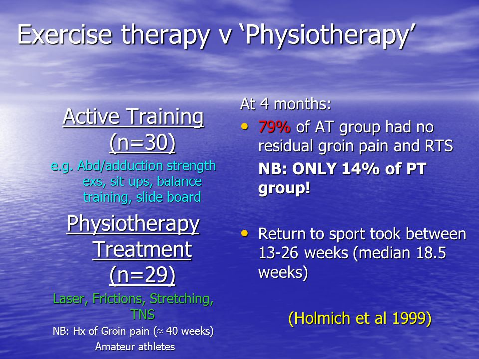 Exercise therapy v 'Physiotherapy'