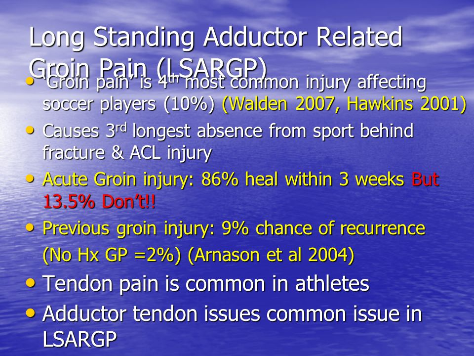 Long Standing Adductor Related Groin Pain (LSARGP)
