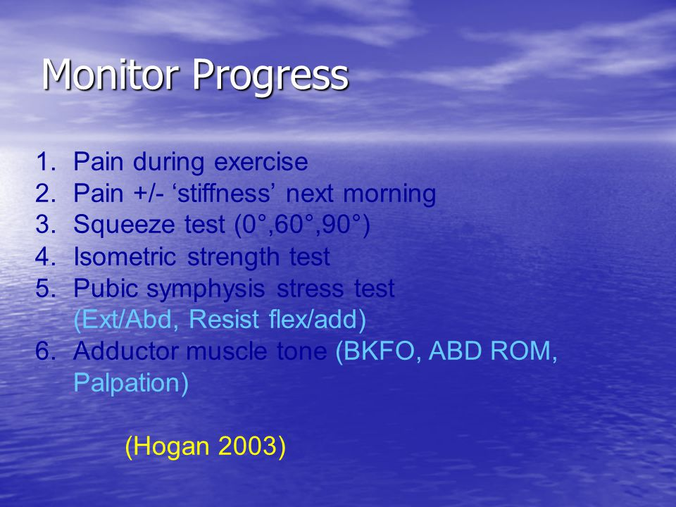 Monitor Progress Pain during exercise