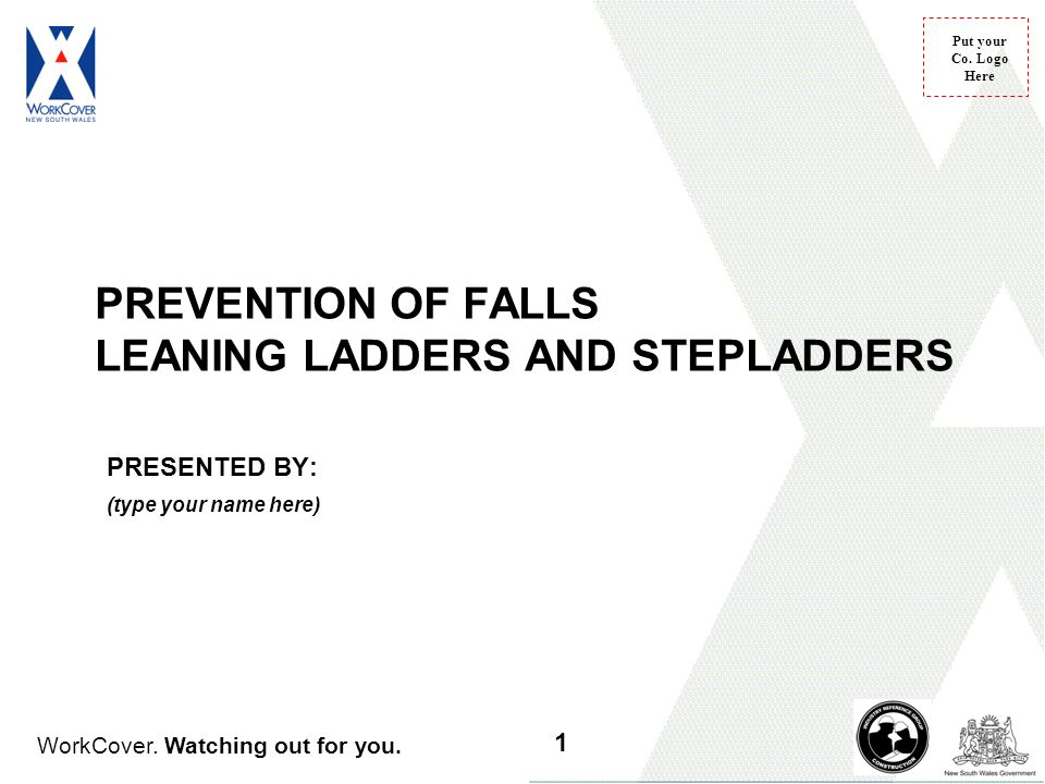PREVENTION OF FALLS LEANING LADDERS AND STEPLADDERS