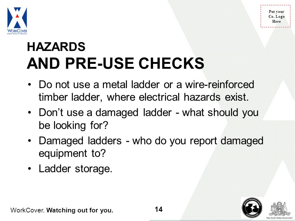 HAZARDS AND PRE-USE CHECKS
