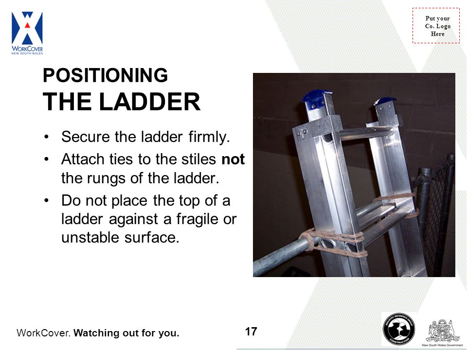 POSITIONING THE LADDER