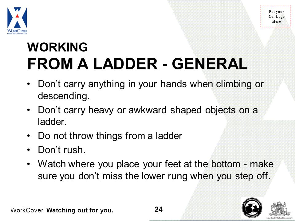 WORKING FROM A LADDER - GENERAL