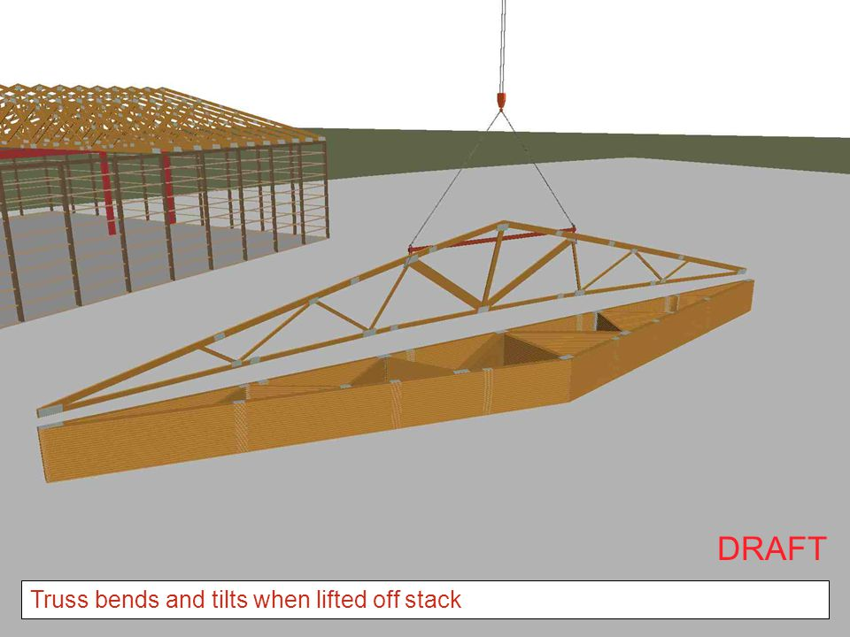 DRAFT Truss bends and tilts when lifted off stack