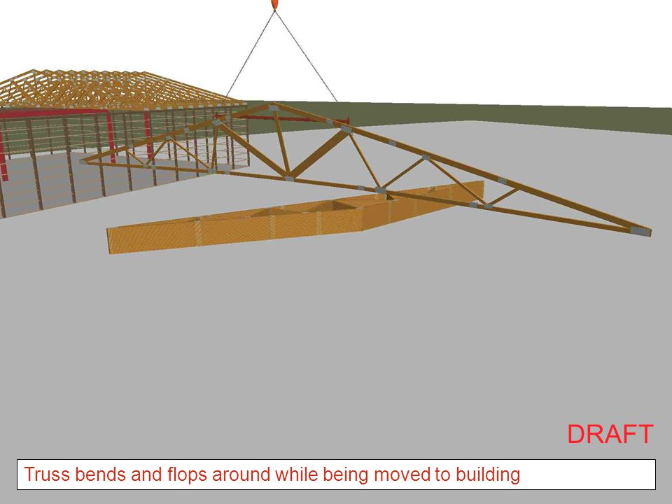DRAFT Truss bends and flops around while being moved to building