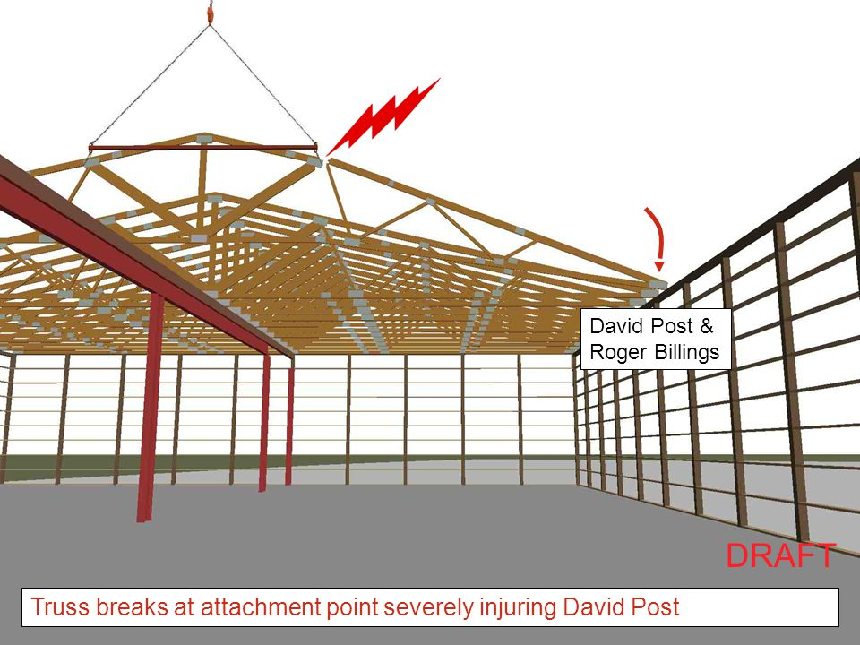 DRAFT Truss breaks at attachment point severely injuring David Post