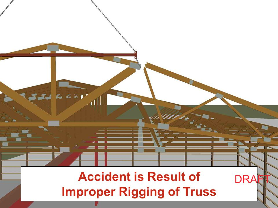 Accident is Result of Improper Rigging of Truss