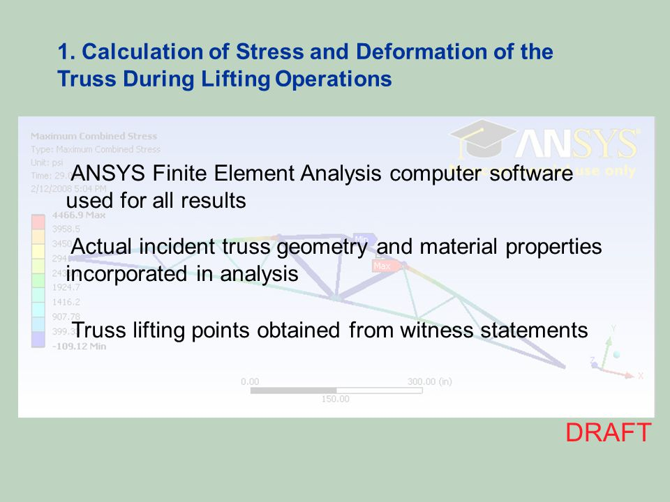 1. Calculation of Stress and Deformation of the Truss During Lifting Operations