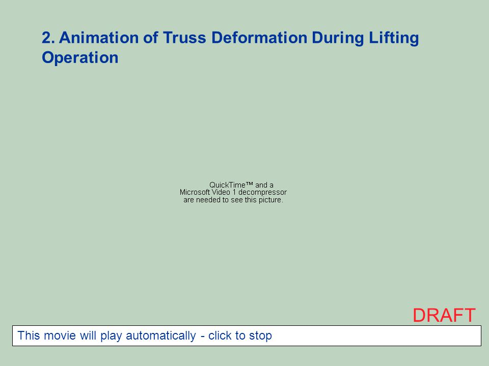 DRAFT 2. Animation of Truss Deformation During Lifting Operation