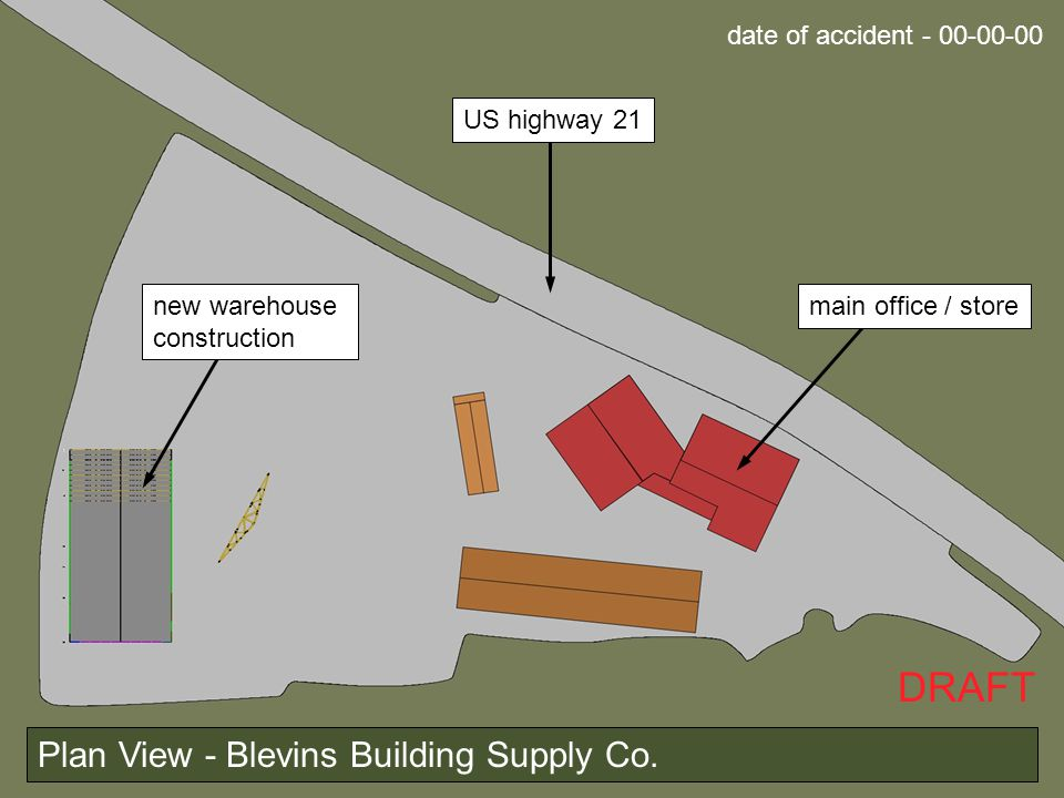 DRAFT Plan View - Blevins Building Supply Co.