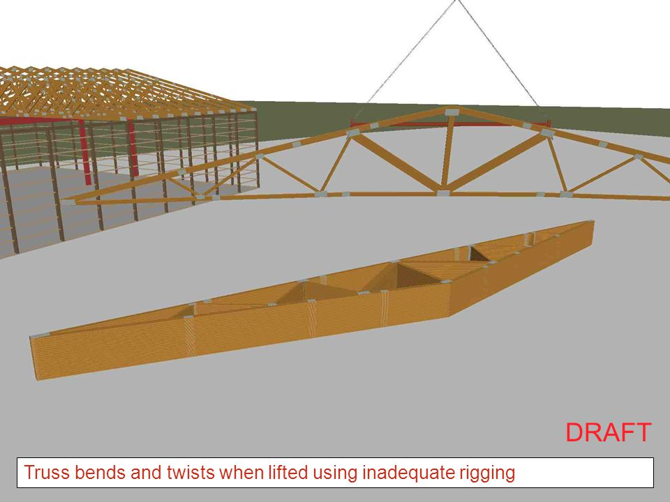 DRAFT Truss bends and twists when lifted using inadequate rigging