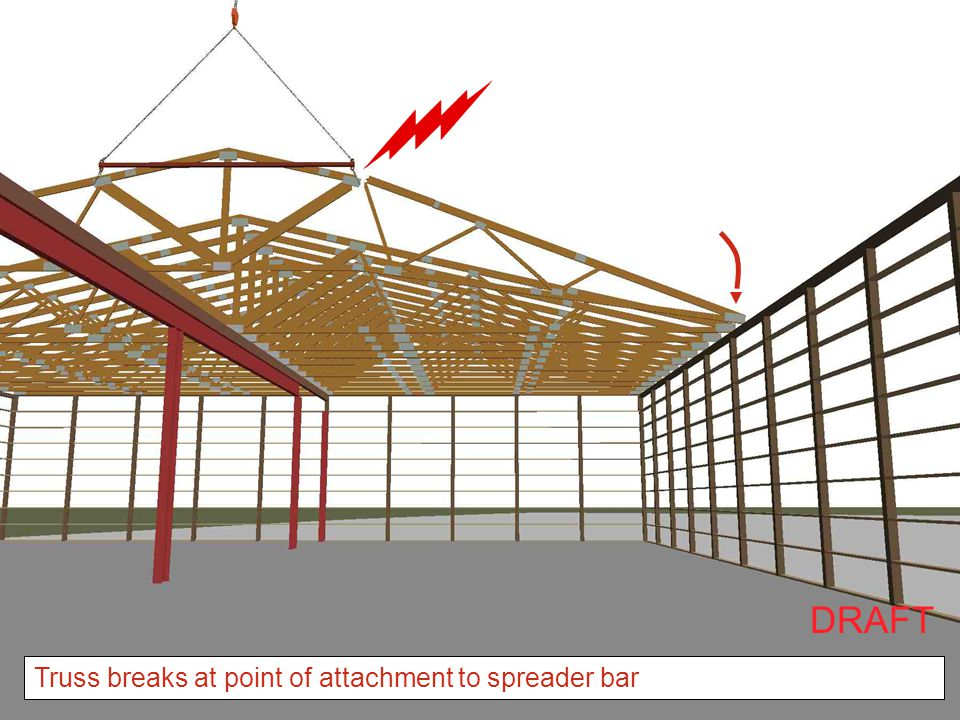 DRAFT Truss breaks at point of attachment to spreader bar