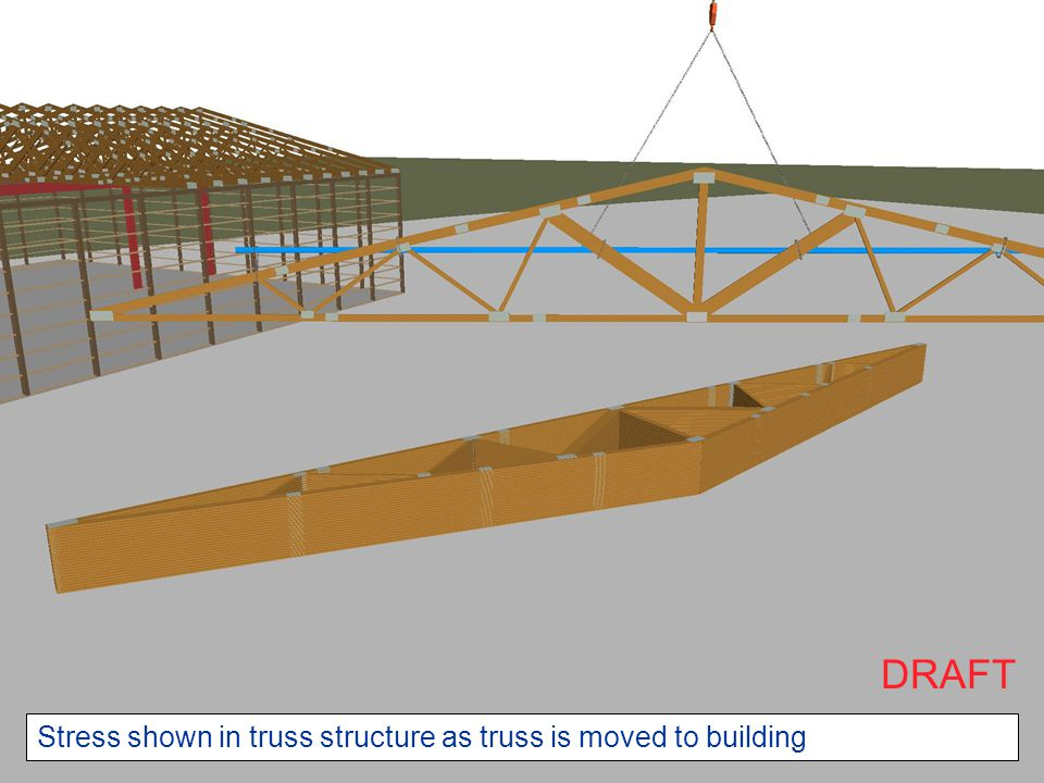 DRAFT Stress shown in truss structure as truss is moved to building