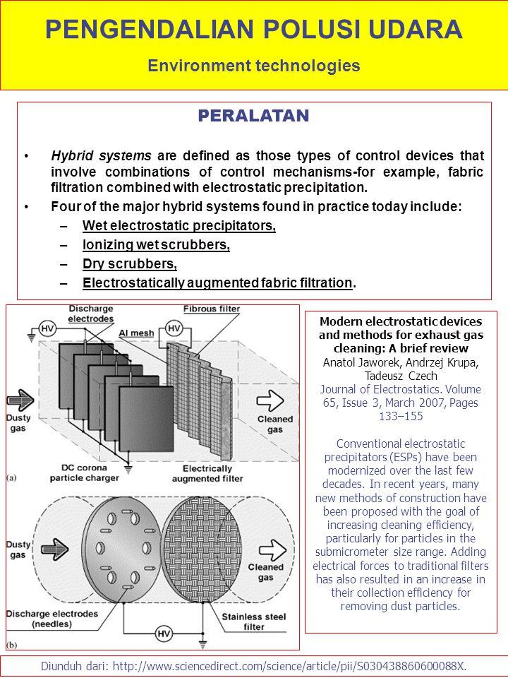 PENGENDALIAN POLUSI UDARA Environment technologies
