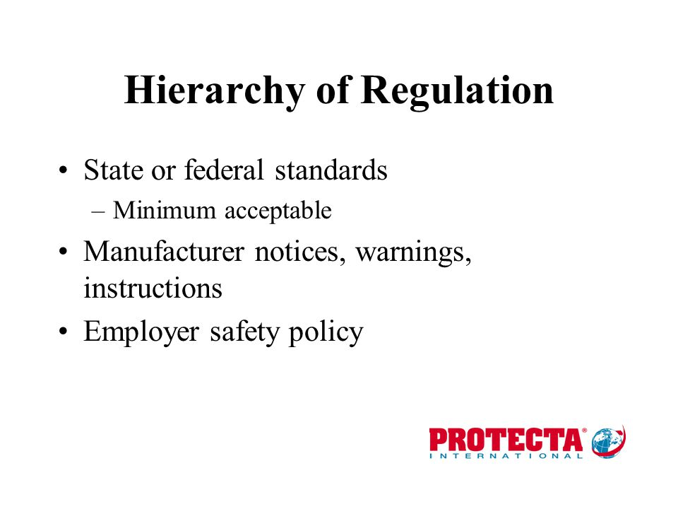 Hierarchy of Regulation