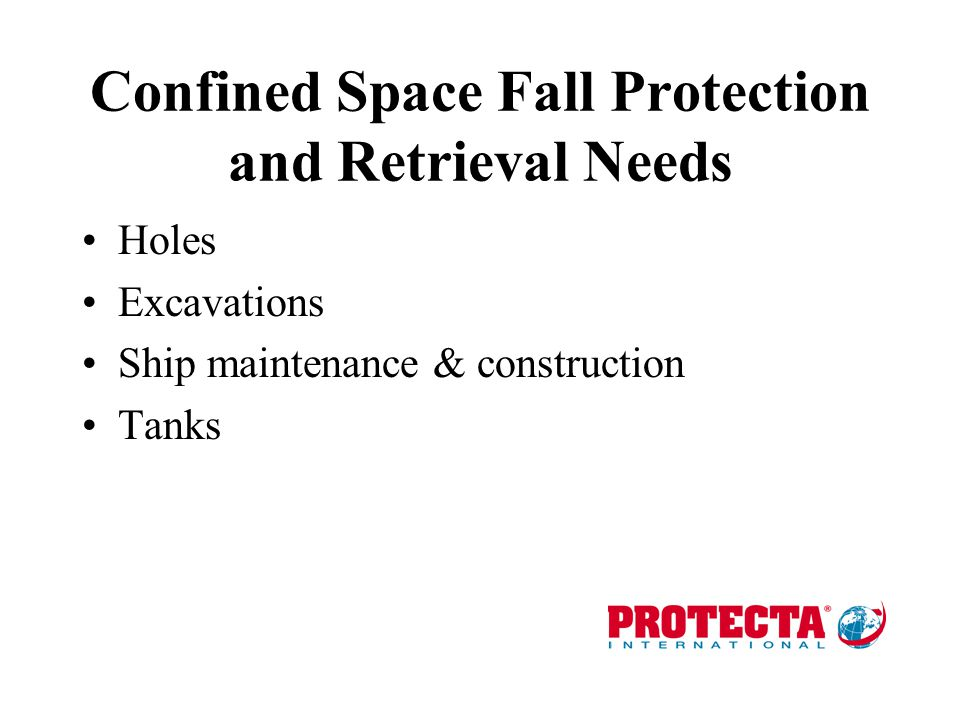Confined Space Fall Protection and Retrieval Needs