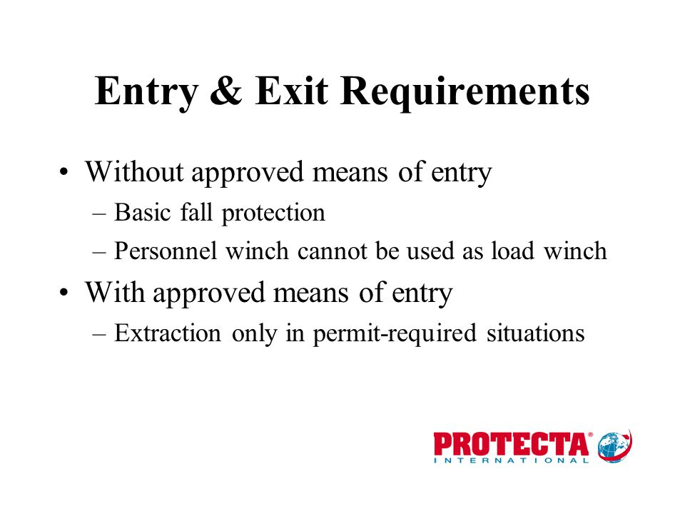 Entry & Exit Requirements