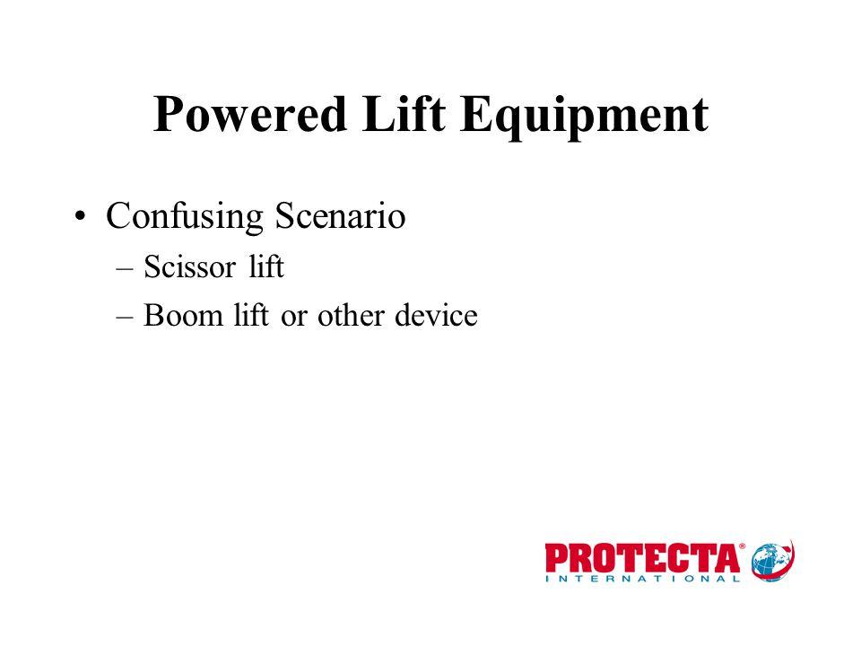 Powered Lift Equipment