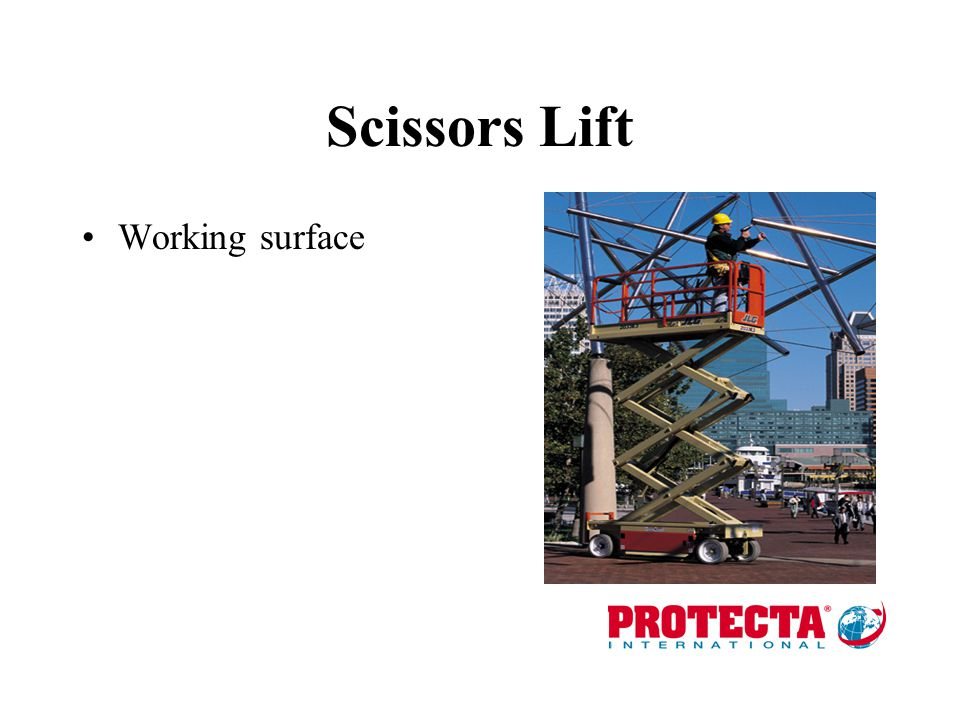 Scissors Lift Working surface