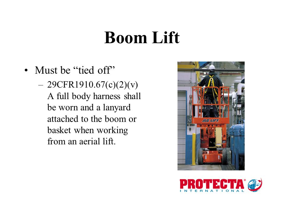 Boom Lift Must be tied off