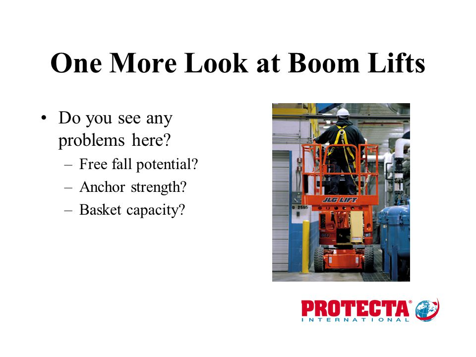 One More Look at Boom Lifts