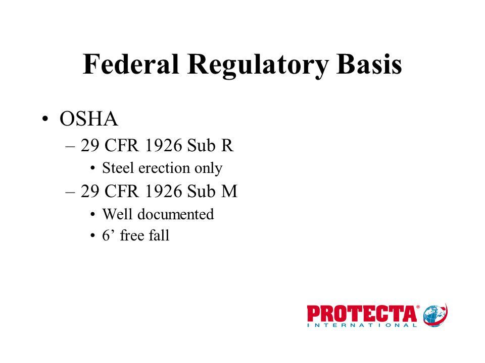 Federal Regulatory Basis