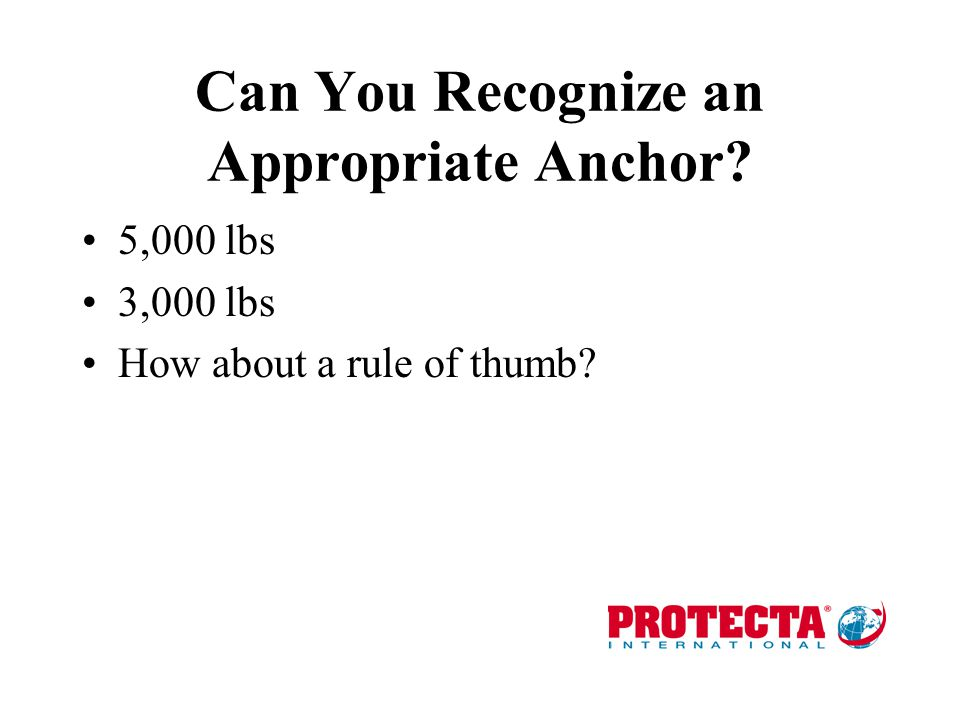 Can You Recognize an Appropriate Anchor