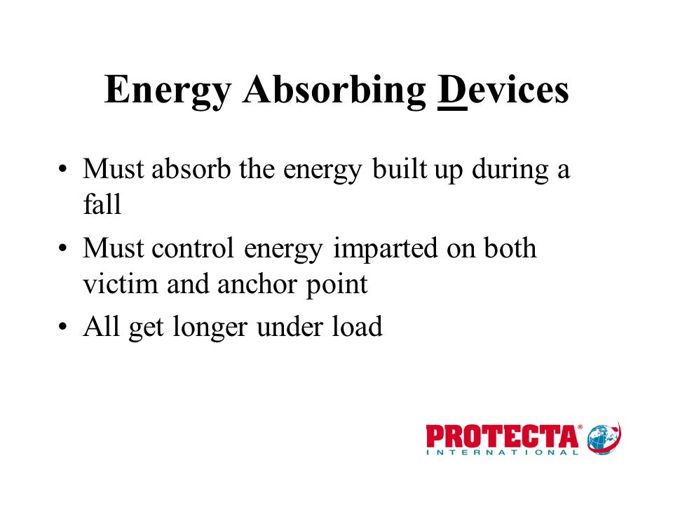 Energy Absorbing Devices
