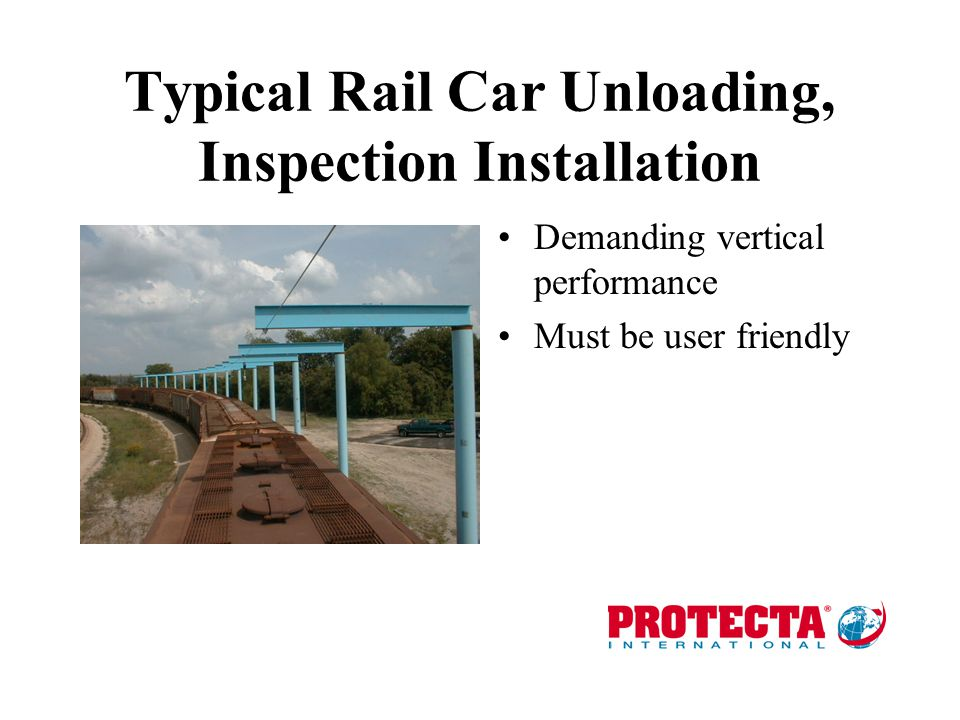 Typical Rail Car Unloading, Inspection Installation