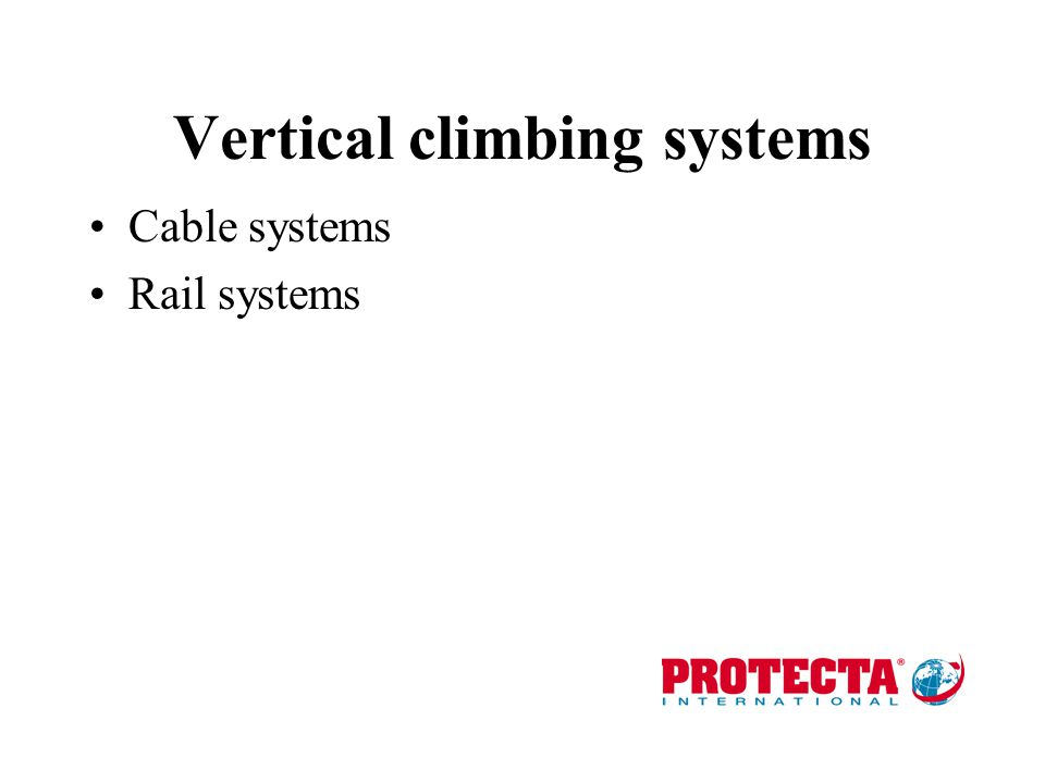 Vertical climbing systems