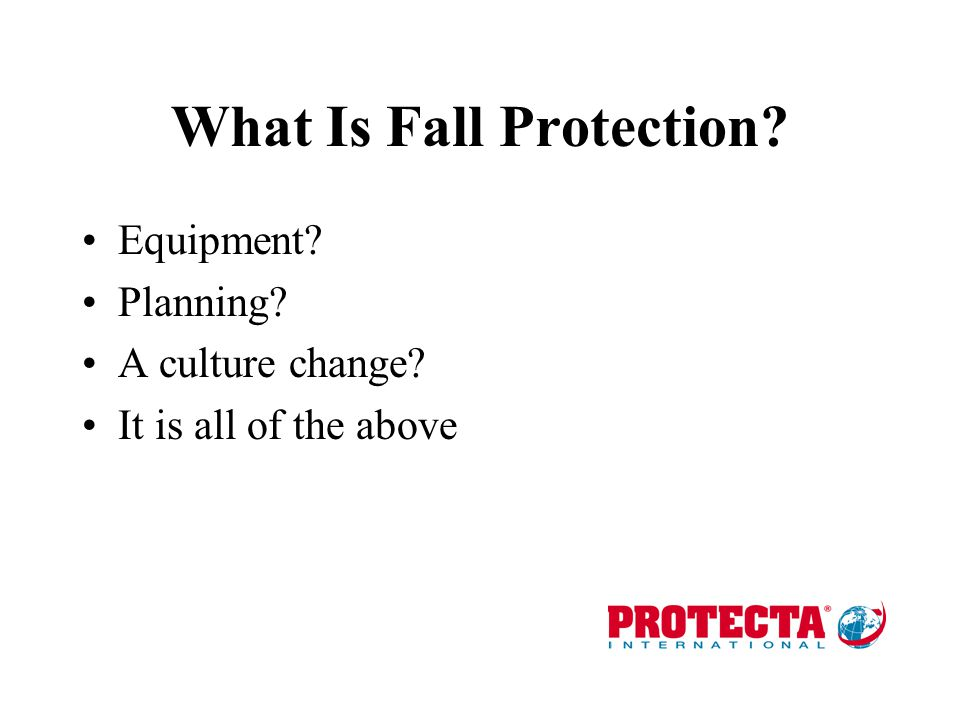 What Is Fall Protection