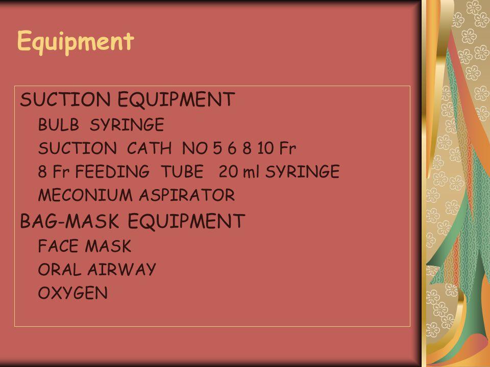 Equipment SUCTION EQUIPMENT BAG-MASK EQUIPMENT BULB SYRINGE